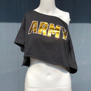 PINK VS ARMY Feelin' Like a Soldier Crop Top Sz M